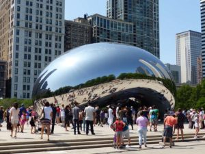 """Cloud Gate"" (The Bean) von Anish Kapoor"