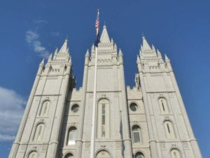 Mormonen-Tempel in Salt Lake City, Utah